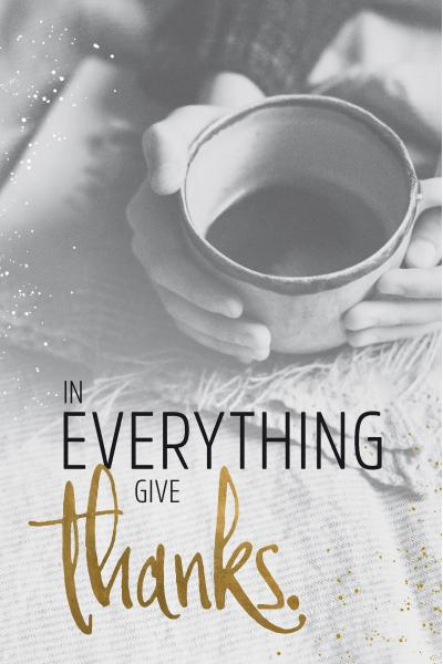 Wand- und Standbild 'In Everything Give Thanks'